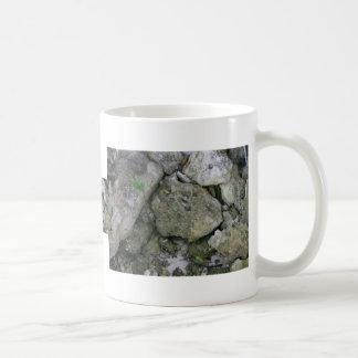 Shore rocks, jagged, with small green shoot classic white coffee mug