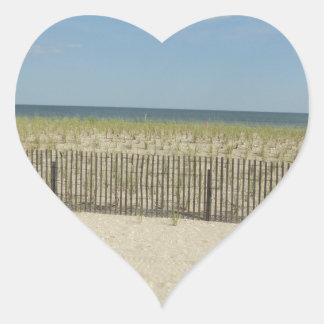 Shore Sea Heart Sticker
