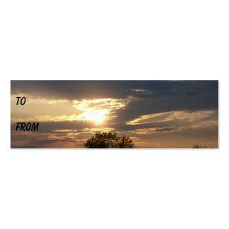 Shore Sunset Profile Card Business Card