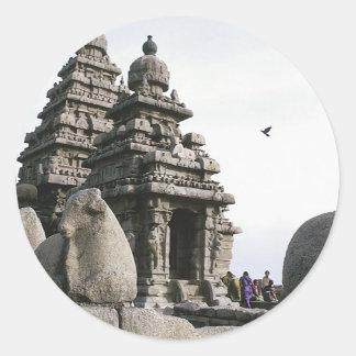 Shore Temple Round Sticker