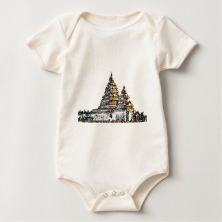 Shore Temple Sketch Baby Bodysuit
