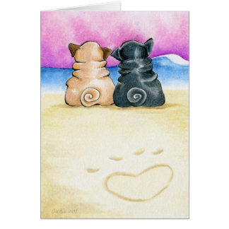Shore Theyre Love Pugs Card