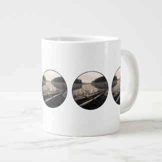 Shore trees large coffee mug