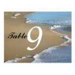 Shore waves Table Number Card Postcard