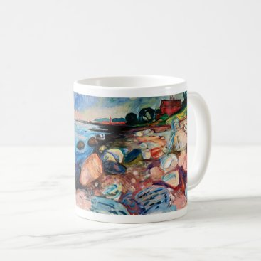 Shore with Red House by Edvard Munch Coffee Mug