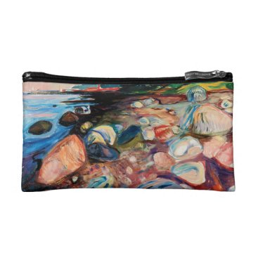 Shore with Red House by Edvard Munch Cosmetic Bag