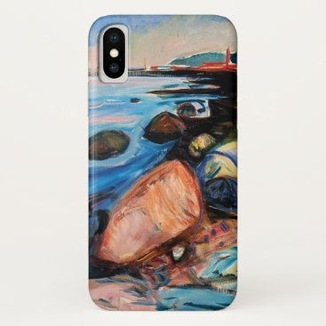 Shore with Red House by Edvard Munch iPhone X Case