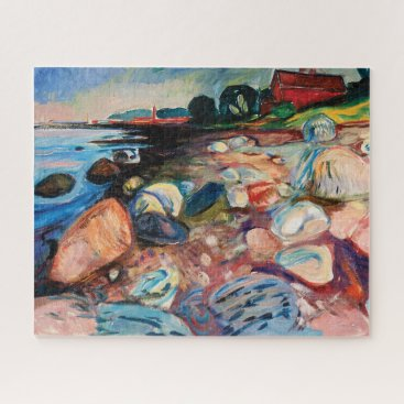 Shore with Red House by Edvard Munch Jigsaw Puzzle