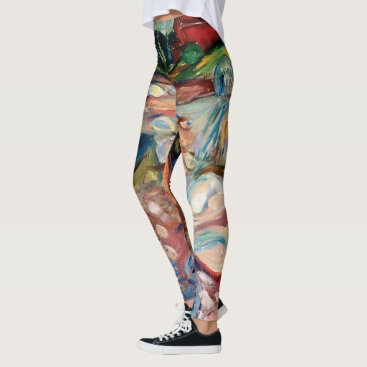 Shore with Red House by Edvard Munch Leggings
