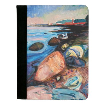 Beach Themed Shore with Red House by Edvard Munch Padfolio