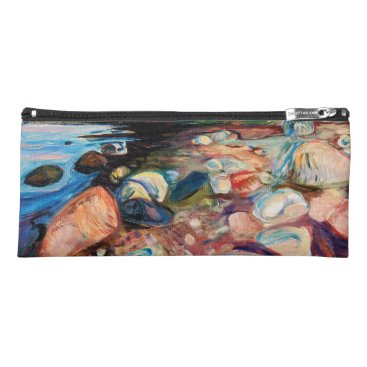 Beach Themed Shore with Red House by Edvard Munch Pencil Case