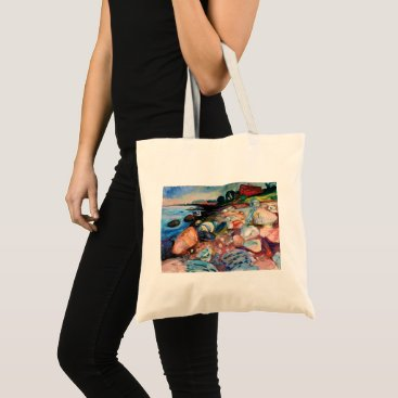 Shore with Red House by Edvard Munch Tote Bag