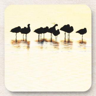Shorebird Silhouettes Cork Coaster