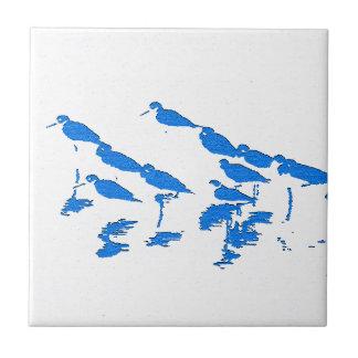 Shorebirds Art Tile