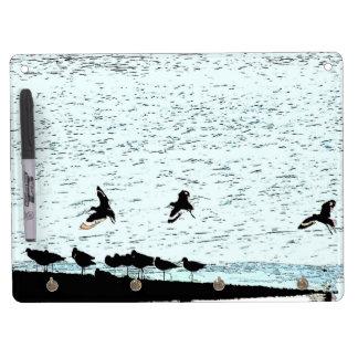 Shorebirds Birds Wildlife Beach Animals Dry Erase Board With Keychain Holder