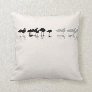 Shorebirds Birds Wildlife Beach Animals Throw Pillow