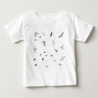 Shorebirds Line art Baby T-Shirt