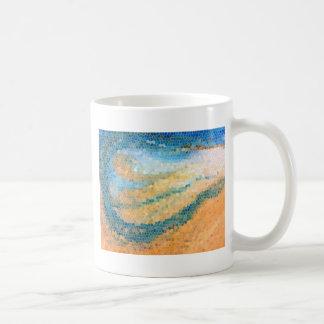 Shoreline Abstract Beach Design Mugs