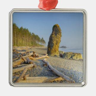 Shoreline and Seastacks, Ruby Beach, Olympic Metal Ornament