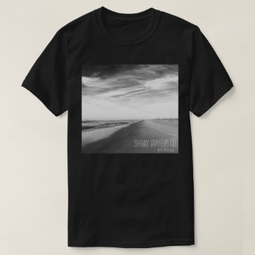 Beach Themed Shoreline B&W Picture Tee