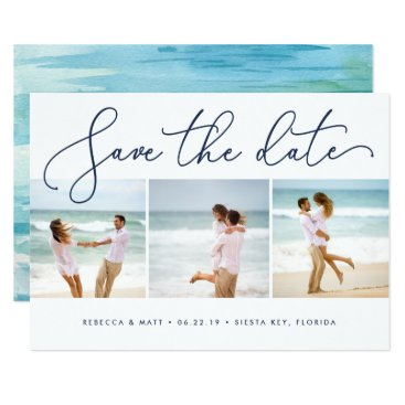 Shoreline | Beach Wedding Save the Date Photo Card