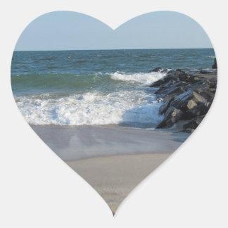 Shoreline Heart Sticker