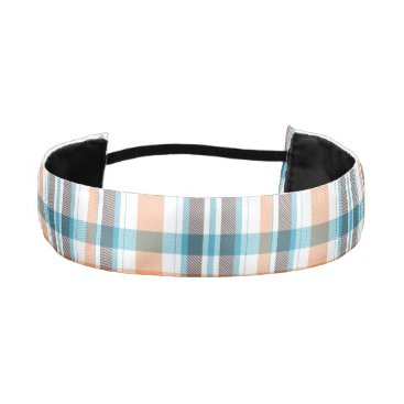 Beach Themed Shoreline Plaid Athletic Headband