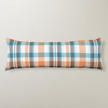 Shoreline Plaid Body Pillow