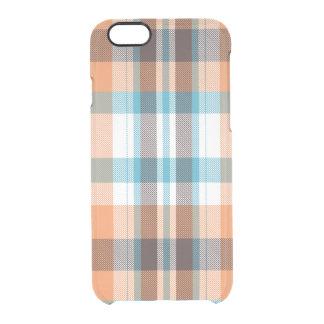 Shoreline Plaid Clear iPhone 6/6S Case