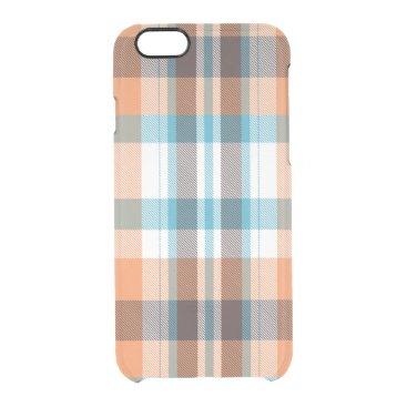 Beach Themed Shoreline Plaid Clear iPhone 6/6S Case