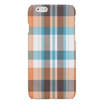 Beach Themed Shoreline Plaid Glossy iPhone 6 Case