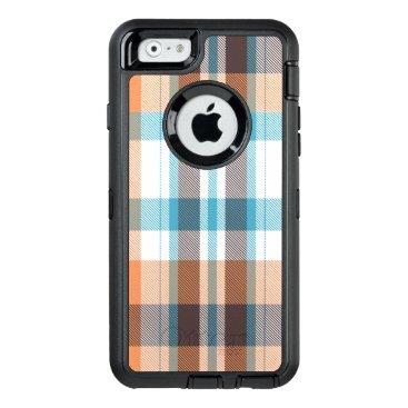 Beach Themed Shoreline Plaid OtterBox Defender iPhone Case