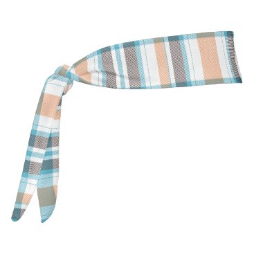 Beach Themed Shoreline Plaid Tie Headband