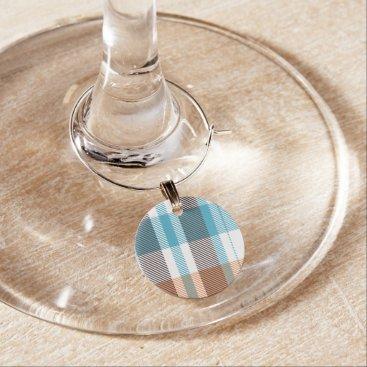 Shoreline Plaid Wine Charm