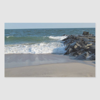 Shoreline Rectangular Sticker