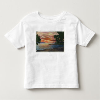 Shoreline Sunset View with Pier Toddler T-shirt
