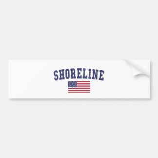 Shoreline US Flag Bumper Sticker