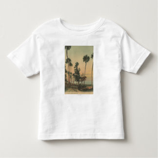 Shoreline view of Indian River with Palm Trees Toddler T-shirt