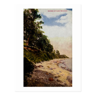 Shores of Lake Michigan Vintage Postcard