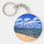 Shores of Lake Superior Basic Round Button Keychain