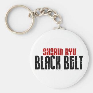 Shorin Ryu Black Belt Karate Basic Round Button Keychain