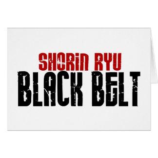 Shorin Ryu Black Belt Karate Greeting Card