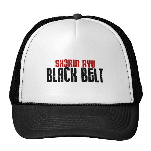 Shorin Ryu Black Belt Karate Hat