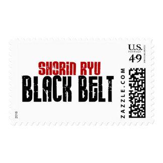 Shorin Ryu Black Belt Karate Stamp