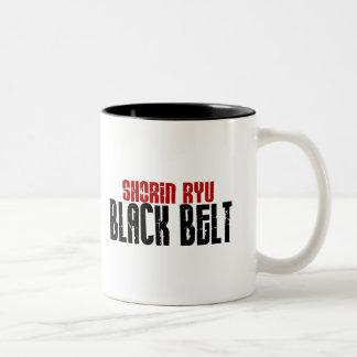 Shorin Ryu Black Belt Karate Two-Tone Coffee Mug