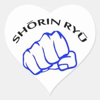 SHORIN RYU KARATE HEART STICKER