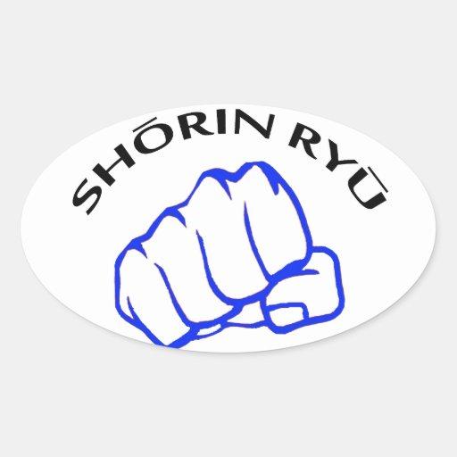 shorin ryu karate oval sticker zazzle