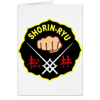 SHORIN RYU KARATE PATCH SYMBOL KANJI GREETING CARD