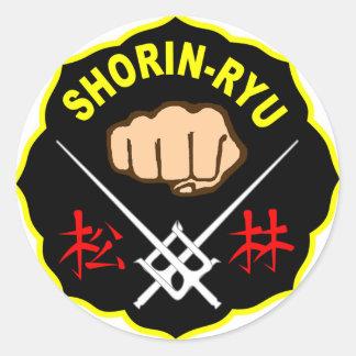 SHORIN RYU KARATE PATCH SYMBOL KANJI CLASSIC ROUND STICKER
