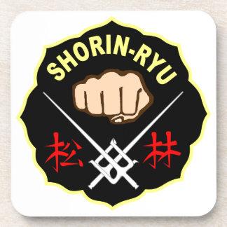 SHORIN RYU KARATE PATCH SYMBOL KANJI COASTER